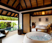 Luxury hotel room Maldives